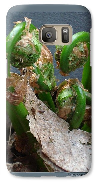 Galaxy Case featuring the photograph Fiddleheads by Patricia Overmoyer