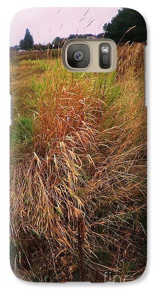 Galaxy Case featuring the photograph Field And Farm by Suzanne McKay