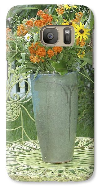 Galaxy Case featuring the photograph Field Flowers At The Mill by Delona Seserman