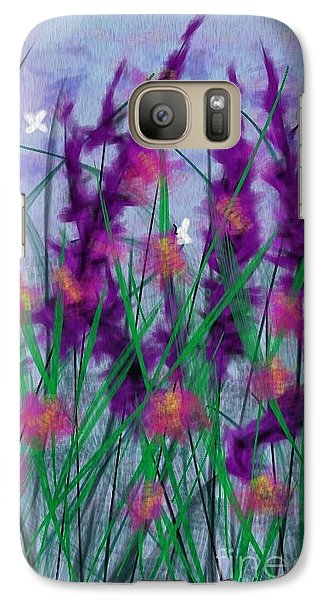 Galaxy Case featuring the painting Field Flowers by Judy Via-Wolff