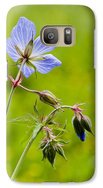 Galaxy Case featuring the photograph Field Geranium by David Isaacson