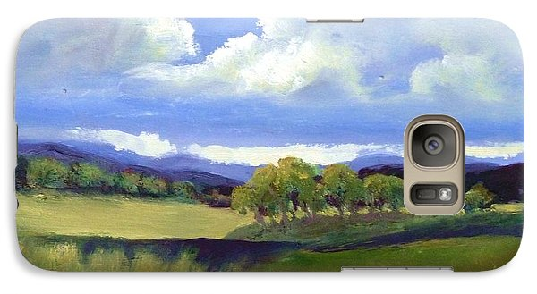 Galaxy Case featuring the painting Field In Spring by Sally Simon