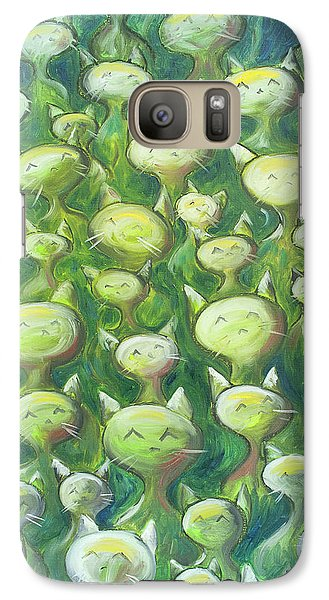 Galaxy S7 Case - Field Of Cats by Nik Helbig