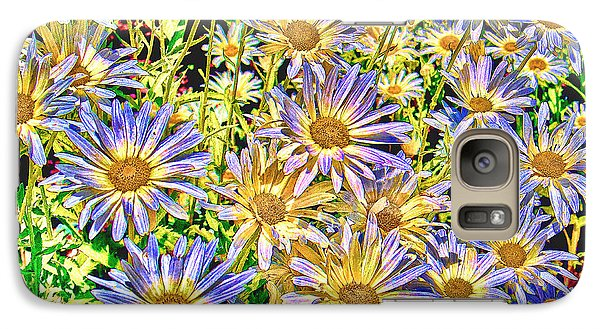 Galaxy Case featuring the photograph Field Of Colorful Flowers by William Havle