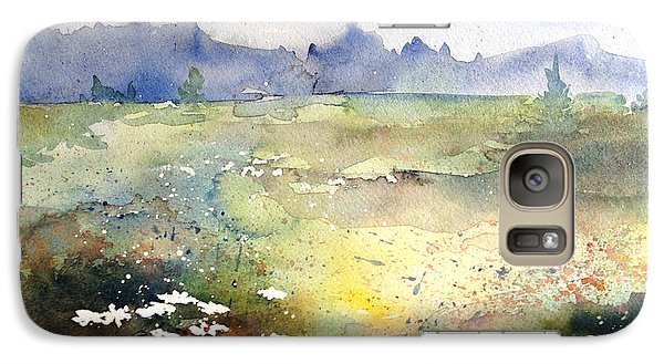 Galaxy Case featuring the painting Field Of Daisies by Marilyn Zalatan