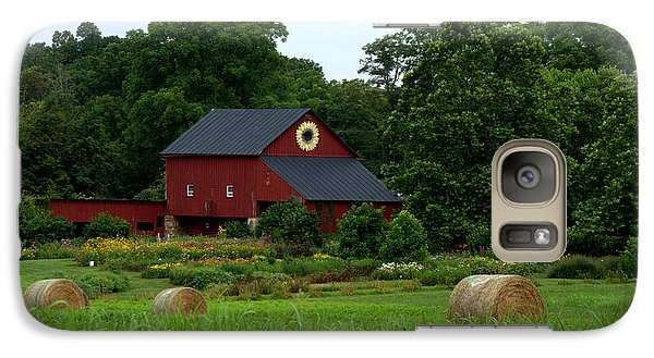 Galaxy Case featuring the photograph Field Of Flowers Farm by Cathy Shiflett