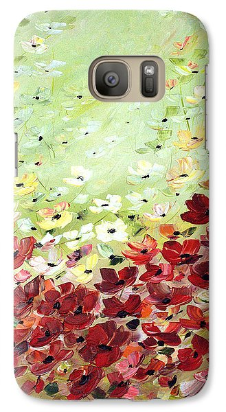 Galaxy Case featuring the painting Field Of Poppies by Dorothy Maier