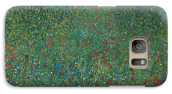 Field Of Poppies Galaxy Case by Gustav Klimt