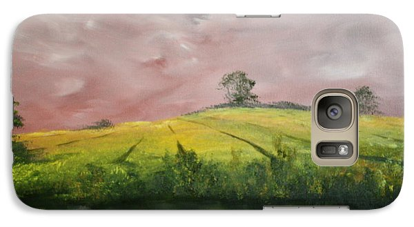 Galaxy Case featuring the painting Field Of Rapeseed Oil by Jean Walker