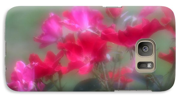 Galaxy Case featuring the photograph Field Of Roses by Mary Lou Chmura