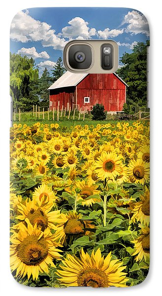 Field Of Sunflowers Galaxy S7 Case by Christopher Arndt