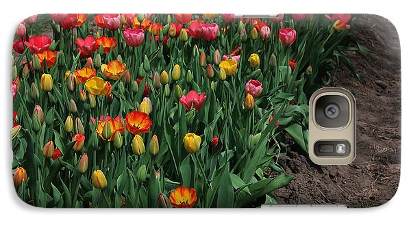 Galaxy Case featuring the photograph Field Of Tulips by Bill Woodstock