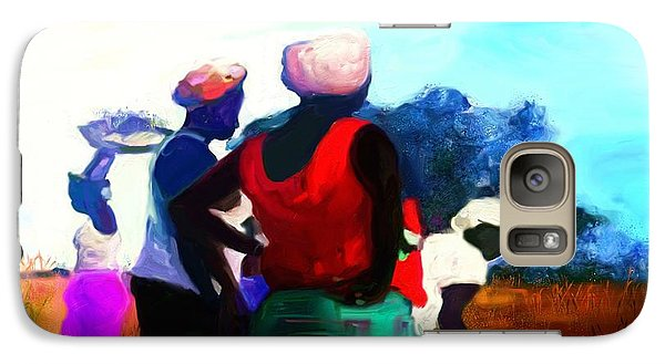 Galaxy Case featuring the painting Field Women by Vannetta Ferguson