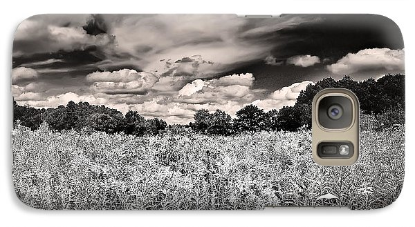 Galaxy Case featuring the photograph Fields Of Gold And Clouds by Mitchell R Grosky