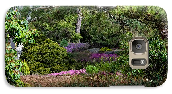 Galaxy Case featuring the photograph Fields Of Heather by Jordan Blackstone