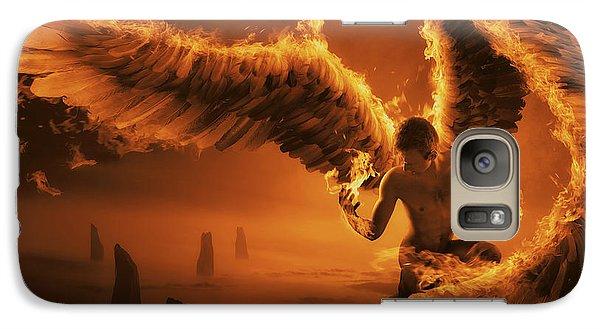 Wizard Galaxy S7 Case - Fiery by Christophe Kiciak