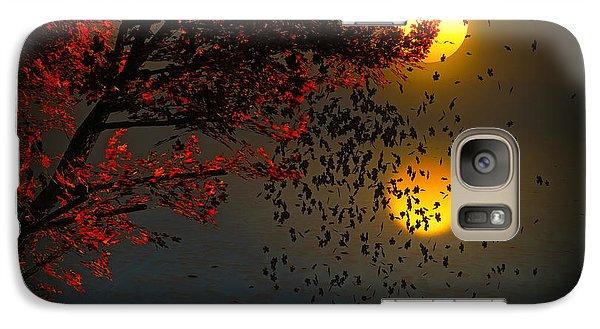Galaxy Case featuring the digital art Fiery Fall... by Tim Fillingim