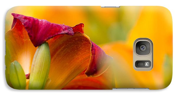 Galaxy Case featuring the photograph Fiery Flora by Mary Amerman