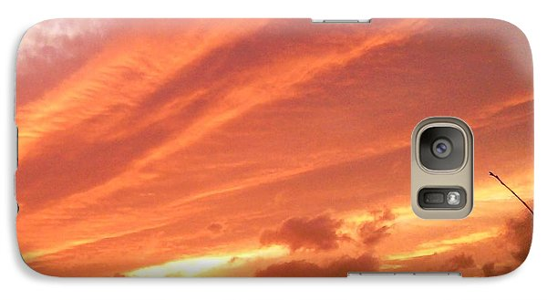 Galaxy Case featuring the photograph Fiery Goodbye by Carlee Ojeda