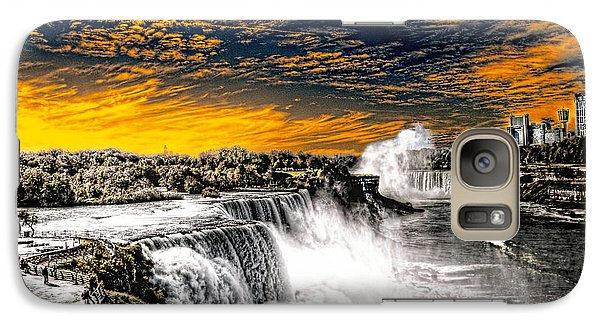 Galaxy Case featuring the photograph Fiery Niagara Falls by Jim Lepard