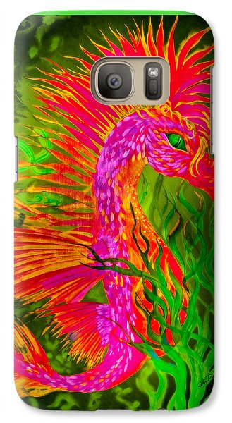 Galaxy Case featuring the painting Fiery Sea Horse by Adria Trail