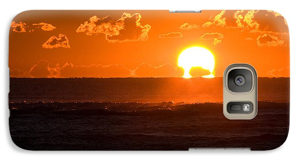 Galaxy Case featuring the photograph Fiery Sunrise by Greg Graham