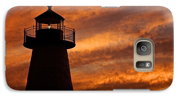 Galaxy Case featuring the photograph Fiery Sunset by Amazing Jules