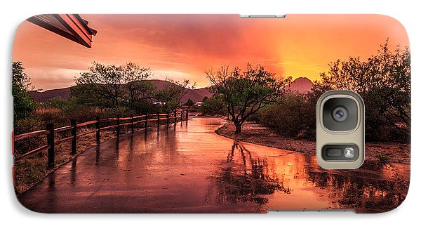 Fiery Sunset Galaxy S7 Case by Beverly Parks
