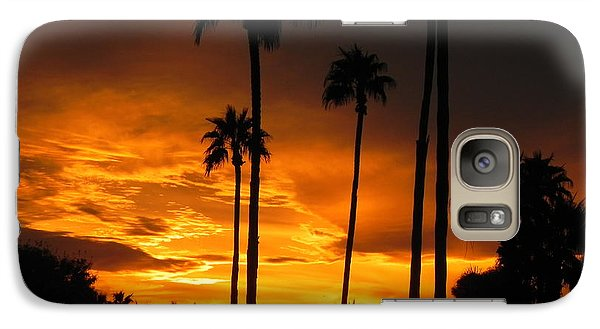 Galaxy Case featuring the photograph Fiery Sunset by Deb Halloran