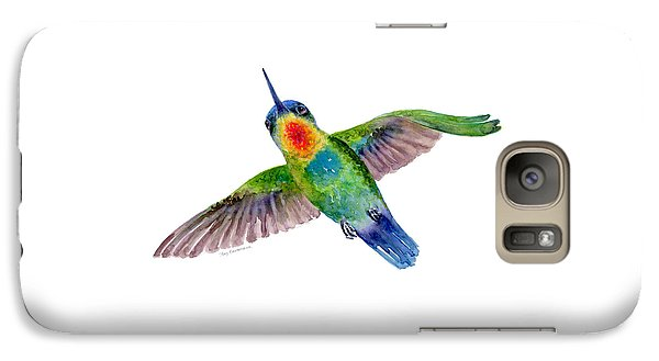 Fiery-throated Hummingbird Galaxy Case by Amy Kirkpatrick