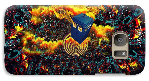 Galaxy Case featuring the painting Fiery Time Vortex by Digital Art Cafe