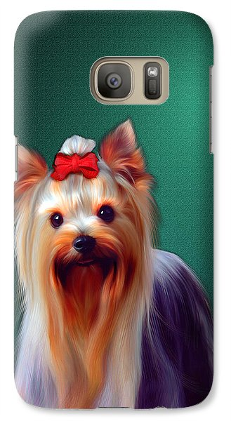 Galaxy Case featuring the painting Fifi by Tyler Robbins