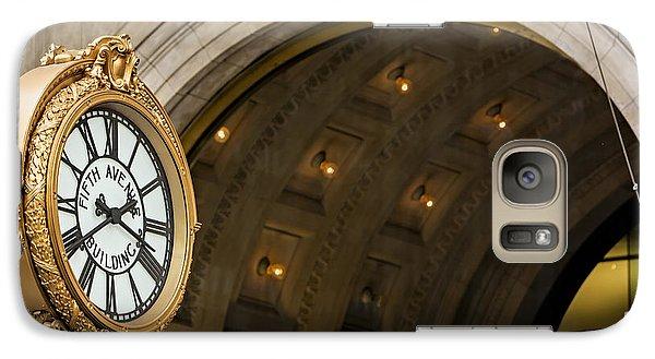 Fifth Avenue Building Clock Galaxy Case by Susan Candelario