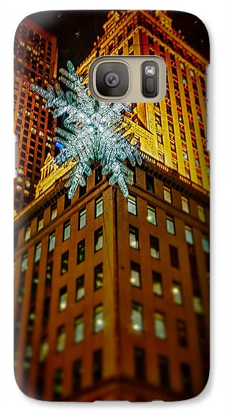 Galaxy Case featuring the photograph Fifth Avenue Holiday Star by Chris Lord
