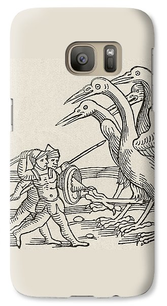 Fight Between Pygmies And Cranes. A Story From Greek Mythology Galaxy S7 Case by English School