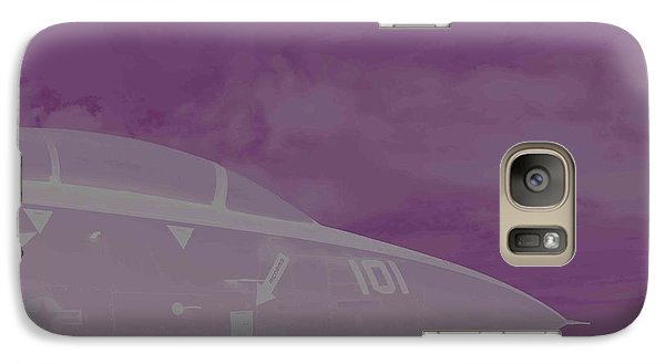 Galaxy Case featuring the photograph Fighter Jet And A Storm by Carolina Liechtenstein