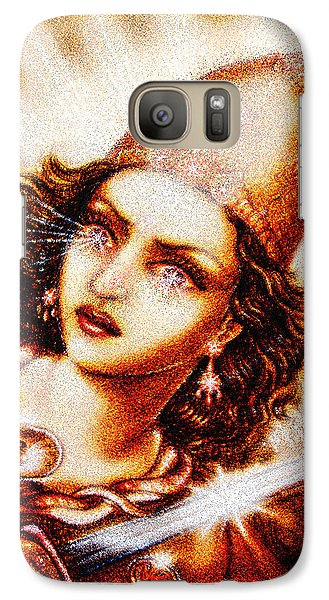 Galaxy Case featuring the mixed media Fighting Goddess 2 by Ananda Vdovic