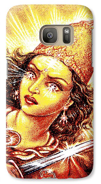 Galaxy Case featuring the mixed media Fighting Goddess by Ananda Vdovic