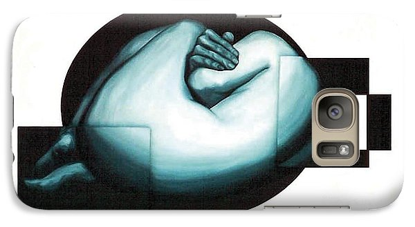 Galaxy Case featuring the painting Figure Untitled No.6 by Fei A