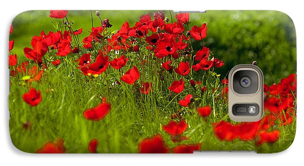 Galaxy Case featuring the photograph Filed Of Anemones by Uri Baruch