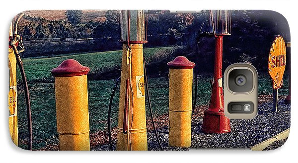 Fill 'er Up Vintage Fuel Gas Pumps Galaxy S7 Case