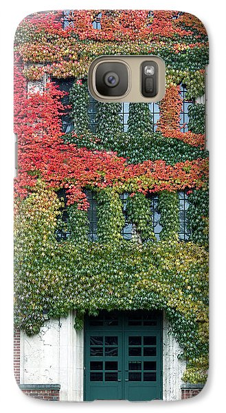 Galaxy Case featuring the photograph Final Farewell Wmu Dorm In Autumn Ivy by Penny Hunt