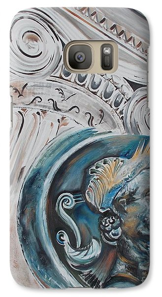 Galaxy Case featuring the painting Financial Cliff by PainterArtist FIN