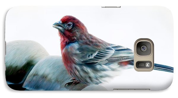 Galaxy Case featuring the digital art Finch by Ann Lauwers