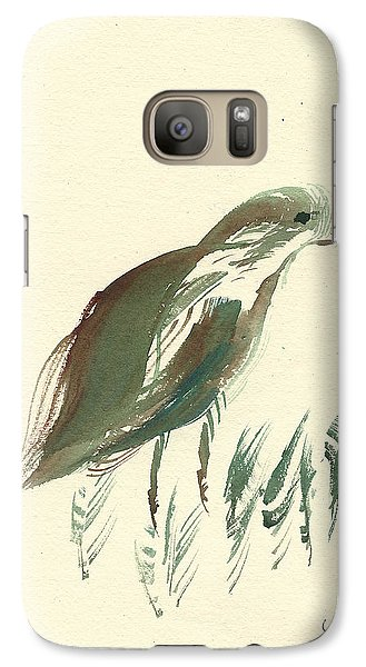 Galaxy Case featuring the painting Finch Bird by Frank Bright
