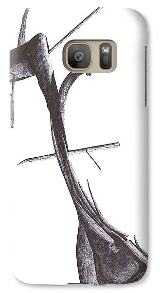 Galaxy Case featuring the drawing Find Your Way by Giuseppe Epifani