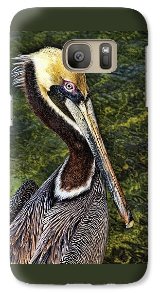 Galaxy Case featuring the photograph Pelican Close Up by Paula Porterfield-Izzo