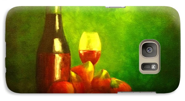 Galaxy Case featuring the painting Fine Wine And Figs by Therese Alcorn