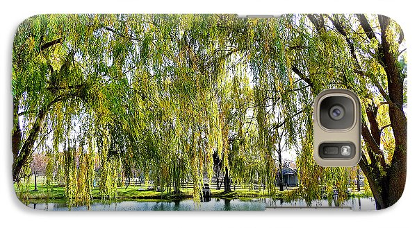 Galaxy Case featuring the photograph Finger Lakes Weeping Willows by Mitchell R Grosky