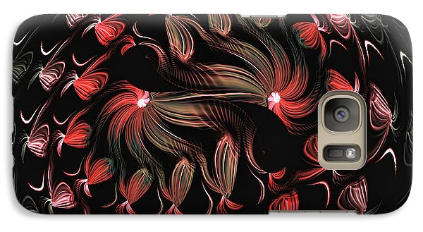 Galaxy Case featuring the digital art Finger Painted Fractal by Lea Wiggins